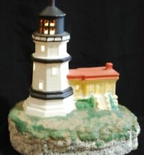 Lighthouse With Battery Box Light Scioto Ceramic Bisque S-2837 Nautical Decor