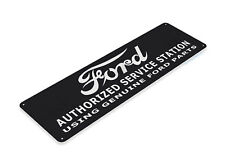 TIN SIGN Ford Authorized Station Retro Sign Auto Garage Shop Store A066