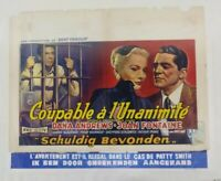 Original Belgian Movie Poster 1956 Beyond a Reasonable Doubt