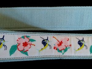 Guy Harvey Ladies Belt Size L/XL Blue Backing Hibiscus and Sailfish