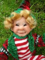 """Amy""  Elf -Ornament - OOAK !!!!  By Barbora"
