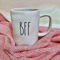 "NEW! Rae Dunn by Magenta ""BFF"" LL Cup Mug Ivory White Farmhouse Style 2021 HTF"