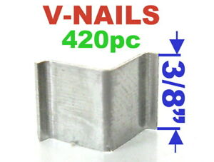 "420 pc V-Nails V-Nail 3/8"" (10mm) for Soft Wood Type: UNI Picture Framing S"