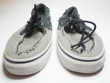 Vans Off The Wall Zapato Del Barco Boat Shoes Color Grey Black Size 13 Mens