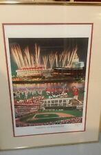 Cincinnati Reds Farewell 2 Riverfront Framed Poster Signed  & Numbered Pete Rose