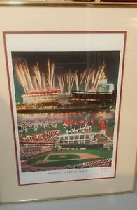 Cincinnati Reds Farewell 2 Riverfront Frame Matte Poster Signed #ed Pete Rose