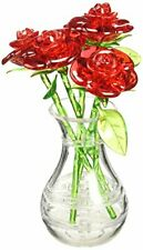 Bepuzzled Original 3D Crystal Jigsaw Puzzle - Red Roses in Vase DIY Assembly ...