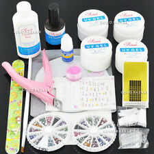 BF Nail Art Kit Acrylic Liquid Powder Gel Primer Pen Brush File Buffer Forms 140