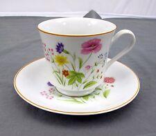Stratford Fine Porcelain Teacup w/ Saucer Nita Designer Collection Summer Melody