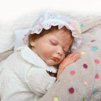 22-Inch Full Body Silicone Reborn Baby Doll Newborn Vinyl Girl Preemie Dolls