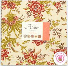 """Moda ATELIER 3 Sisters LAYER CAKE 42 10"""" Squares Quilting Fabric"""