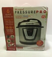 Electric 6 Qt Pressure Cooker Cookware Programmable Cook Canning Healthy Meals