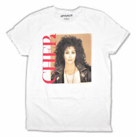 Cher Vintage Square Photo Pic White T Shirt New Official Merch
