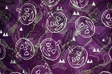 NEW ~ Halloween Print Scrub Top ~ 4X ~ Purple Pumpkin