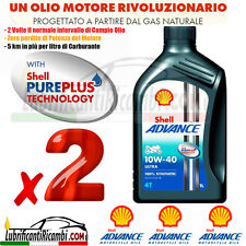 2 Litri Olio Motore 4 tempi SHELL ADVANCE ULTRA 10W40 100%Sint. - FORM. PUREPLUS
