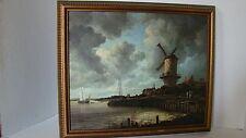 """1984 Print On Canvas Dutch Scene """"Mill At Wijk Bij Duurstede"""" By Van Ruisdael"""