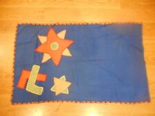 Vintage Hand made Huguenot Society Quaker Flag 8 & 5 Point Star Peace Frienship