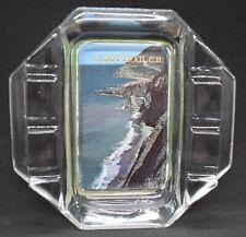 Vintage CABOT TRAIL CB Cape Breton ASHTRAY Nova Scotia HEAVY GLASS Man Cave