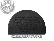 NDZ P2 Grip Plug for Glock Gen 1-3 26 27 33 39 ONLY Bible Psalm 23:4