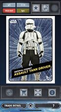 Topps Star Wars Card Trader Rogue One Challengers Hyperspace Tank Driver 35cc