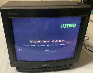 "Sony Trinitron KV-13TR24 13"" Color CRT TV RetroGaming Television (1991)"