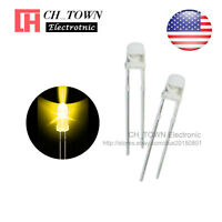 100pcs 3mm LED Water Clear Yellow Light Diodes Round Top Ultra Bright