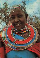 Women 'Masai Women' Kenya Lovely Vintage Postcard Circa 1960s.