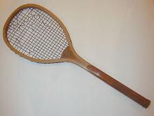 Spalding Checkered Handle Antique Tennis Racquet - Gold Ribbon Logo c1900 - Rare