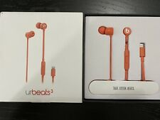 urBeats3 Wired Earphones (Lightning Connector) - Coral Pre-owned