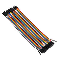 40pcs 20cm Dupont Wire Jumper Cable Female Port Header for Breadboard Arduino
