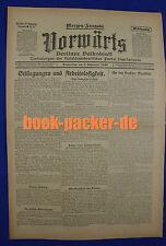 VORWÄRTS (9. September 1920): Stillegungen und Arbeitslosigkeit