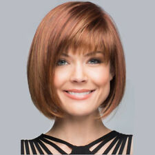 Fashion Synthetic Short Straight BoBo Brown Straight Beauty Wig For Women Ladies
