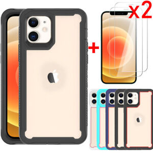 For iPhone 11, 12 Pro Max Case Defender Hybrid Shockproof Cover/Screen Protector