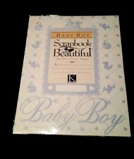 """K&Company Baby BOY Scrapbook Pages 8 1/2"""" x 11"""" Ivory/blue-6 different pages"""