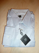 NEW $220+ IKE BEHAR Mens Dress SHIRT 17.5 37 steel Made in CANADA 100% Cotton BC