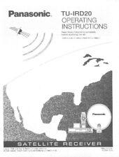 Panasonic TU-IRD20 Satellite Receiver Owners Instruction Manual