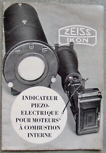 ZEISS IKON ELECTRIC PIEZO INDICATOR FOR CAR ENGINES BROCHURE IN FRENCH. 1936