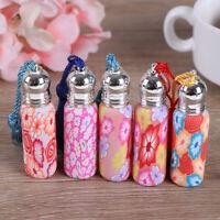 1/4*6ml Empty Glass Perfume Essential Oil Bottle Roll On Roller Soft Clay Ran BB