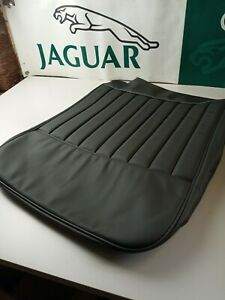 JAGUAR XK150 FRONT SEAT COVERS AND CENTRE ARMREST IN BLACK LEATHER