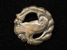 Georg Jensen Denmark #123 Dove Sterling Silver Brooch Pin, 925, Danish, Old Mark