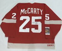DARREN MCCARTY SIGNED DETROIT RED WINGS 1997 CUP JERSEY JSA COA LICENSED