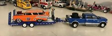 New Listing1/64 Bre Flatbed Car Trailer W/M2 57 Chevy Nomad W/Dodge Ram 3500 Dually