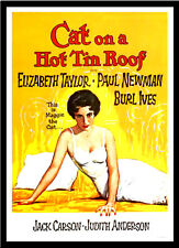 A3 - Cat on a Hot Tin Roof Liz Taylor Movie Film Cinema wall Home Posters Art 10
