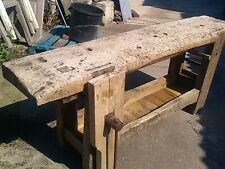 Ancien Etabli bois Menuisier , industriel , desserte , Garage , Loft deco