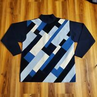 80's 90's Vintage KOMAN SPORT Turtleneck Cosby Style Sweater Men's XL Korean