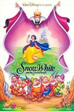 Disney SNOW WHITE & THE SEVEN DWARFS 2 sided ROLLED!!