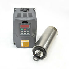 HY 2.2KW WATER COOLED MOTOR SPINDLE & 2.2KW DRIVE INVERTER VFD 80MM DIAMETER