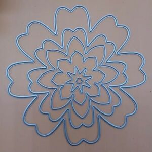 Flower Frame Border Metal Cutting Die Scrapbooking Embossing Dies Stencil Crafts