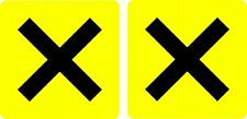 Novice Driver Cross Stickers MSA Approved pair