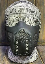Face Leather Mask Leather Face Cover Leather Mask steampunk Protective mask